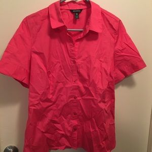 George button down pink cotton top